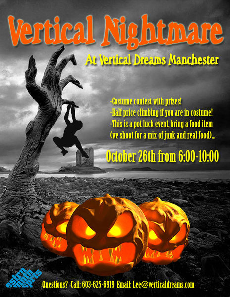 Rock Climbing Photo: our annual Halloween party will be back! be there!