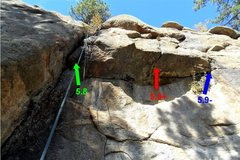 """Rock Climbing Photo: Three options for the roof on """"Getting Older...."""