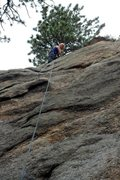 Rock Climbing Photo: Brenda setting up a rappel from the Parallel Unive...