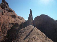 Rock Climbing Photo: approaching via the ridge