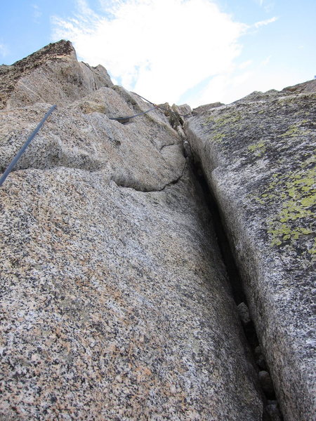 Rock Climbing Photo: Not the greatest photo, but the rope and gear foll...