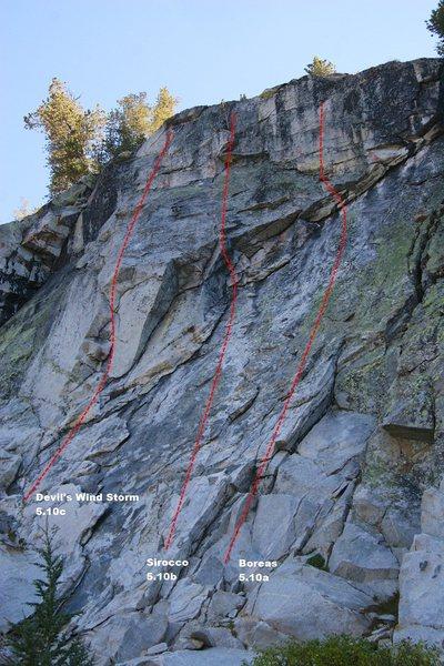 Rock Climbing Photo: Main Wall Topo