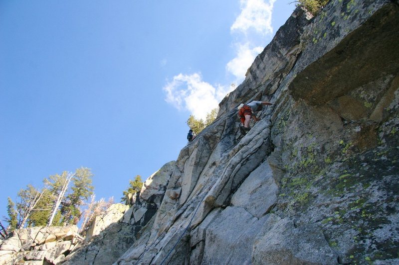 Starting out on lower slab.