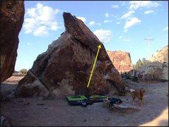 Rock Climbing Photo: Spiffy Black Boots problem.