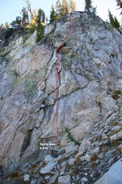 West Buttress Topo