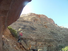 "Rock Climbing Photo: Nearing the top-out ""ker-THUD"" River Roa..."