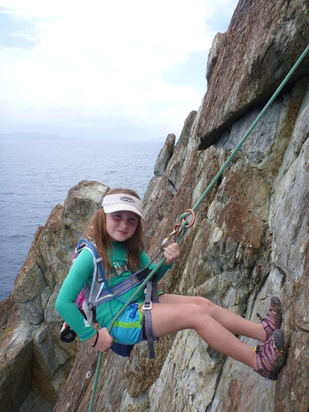 Rock Climbing Photo: The kid rappeling
