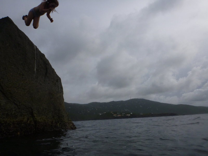 First time cliff diving