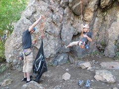 Rock Climbing Photo: This 70m mammut 9.5 rope was BARELY long enough to...
