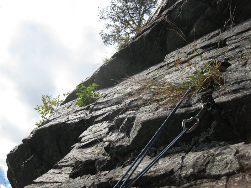Rock Climbing Photo: closer view at the roof