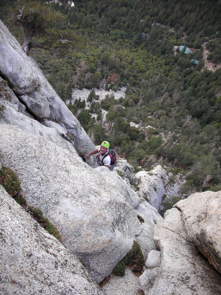 "Rock Climbing Photo: Bill, having fun on an upper pitch of ""White ..."