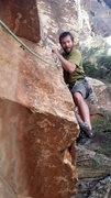 Rock Climbing Photo: The pitch 2 crux.