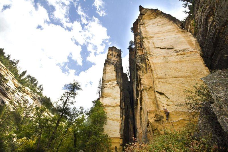 Rock Climbing Photo: FFA of Twist of Fate, Darren Mabe, September 2012 ...