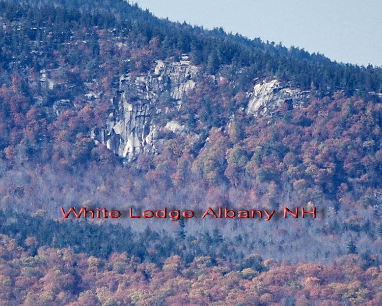 A distance shot of White Ledge<br> Photo by Brad White
