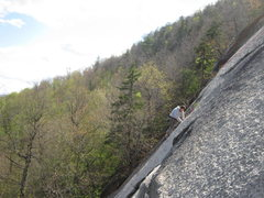 Rock Climbing Photo: Lincoln Tetherly follows P2 on Old Route. Photo by...
