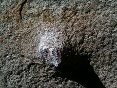 "Rock Climbing Photo: The starting knob on ""Super Chicken""."