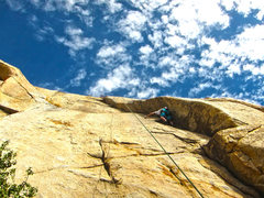 Rock Climbing Photo: Not quite sure the route is 110ft in length but a ...