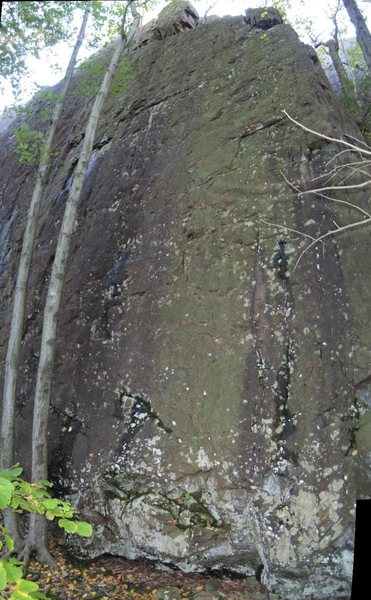 Tomahawk - up the middle of this face (not exactly sure where the route is)