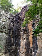 Rock Climbing Photo: Setting up rappel at top of strongman.
