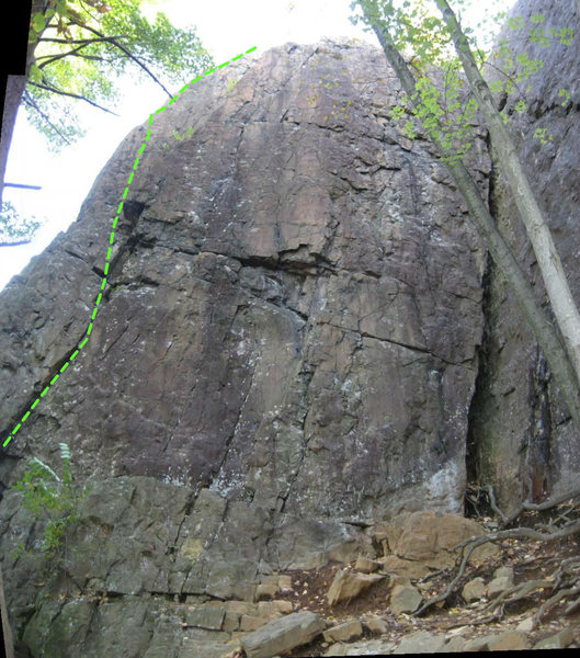 Rock Climbing Photo: The upper part of Casual Corner