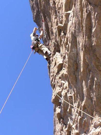 Rock Climbing Photo: Wayne getting the gear in.