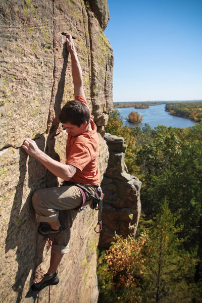 Rock Climbing Photo: Ryan on the classic, Straight No Chaser.