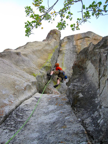 Rock Climbing Photo: At crux #2.