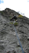 Rock Climbing Photo: Lower section (crux) is a bit run out.