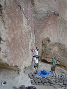 Rock Climbing Photo: Some nice fellows from PDX managing to stickclip t...