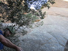Rock Climbing Photo: Clay setting up for pitch 1