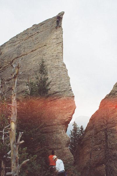 Rock Climbing Photo: Fun lead.