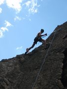 Rock Climbing Photo: Jerod, just drinking a beer after making it to the...