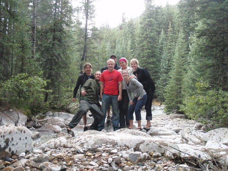Rock Climbing Photo: Camping crew, before we went climbing. Good times.
