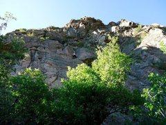 Rock Climbing Photo: Tiny spec