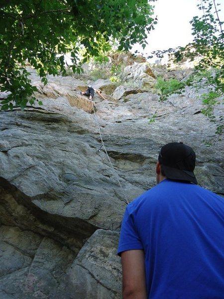 Rock Climbing Photo: Up, up, and away!