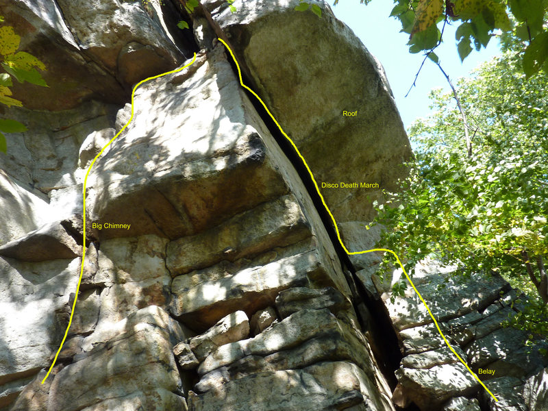 Rock Climbing Photo: Tree bottom right is at the belay on top of the bo...