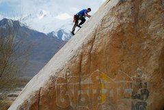 Rock Climbing Photo: A fun little slab climb at the base of the main cl...