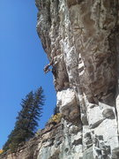 Rock Climbing Photo: Ben ripping choss just before the FA.