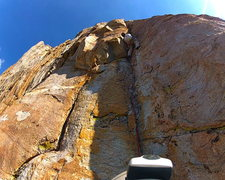"""Rock Climbing Photo: Pulling the small roof on the """"slot"""" pit..."""