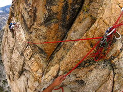 Rock Climbing Photo: The ramp traverse.