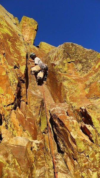 Rock Climbing Photo: Matt on P3.