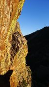 Rock Climbing Photo: Evening light on the West Ridge from the P2 belay ...