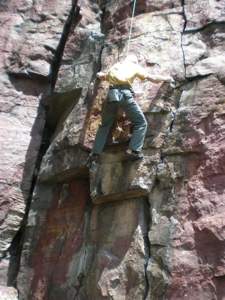 Rock Climbing Photo: Going boldly where many have gone before.