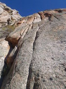 Rock Climbing Photo: The route goes fromleft to right and back up the c...