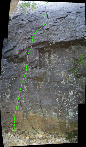 Rock Climbing Photo: Yucca Flats:  The pic is a bit distorted. The rout...