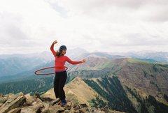 Rock Climbing Photo: hooping on top of mount sopris