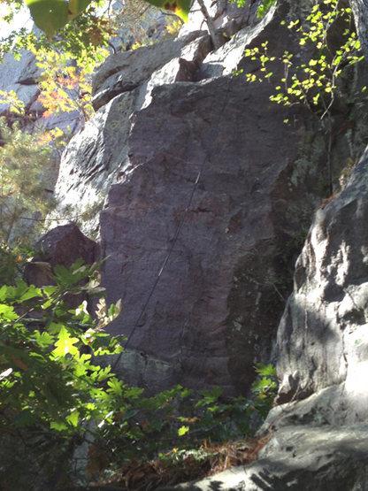 Rock Climbing Photo: Lower start to Mr. Lucky.