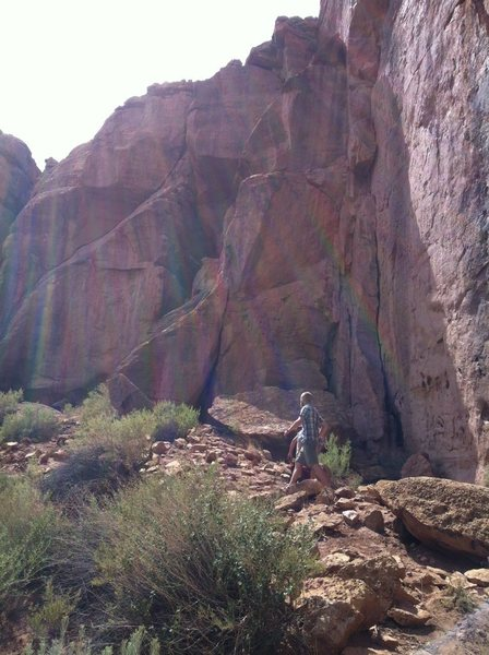 checking out the rock -- greenhorn canyon.