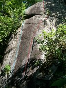 Rock Climbing Photo: It is the red line.  a lot cleaner now then in the...