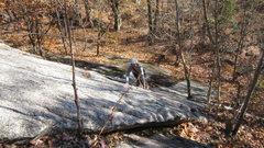 Rock Climbing Photo: Matt Peer follows Pitch One of Eminent Domain